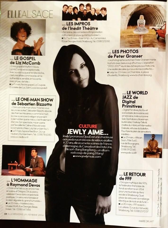 Magazine ELLE – 28/02/2014