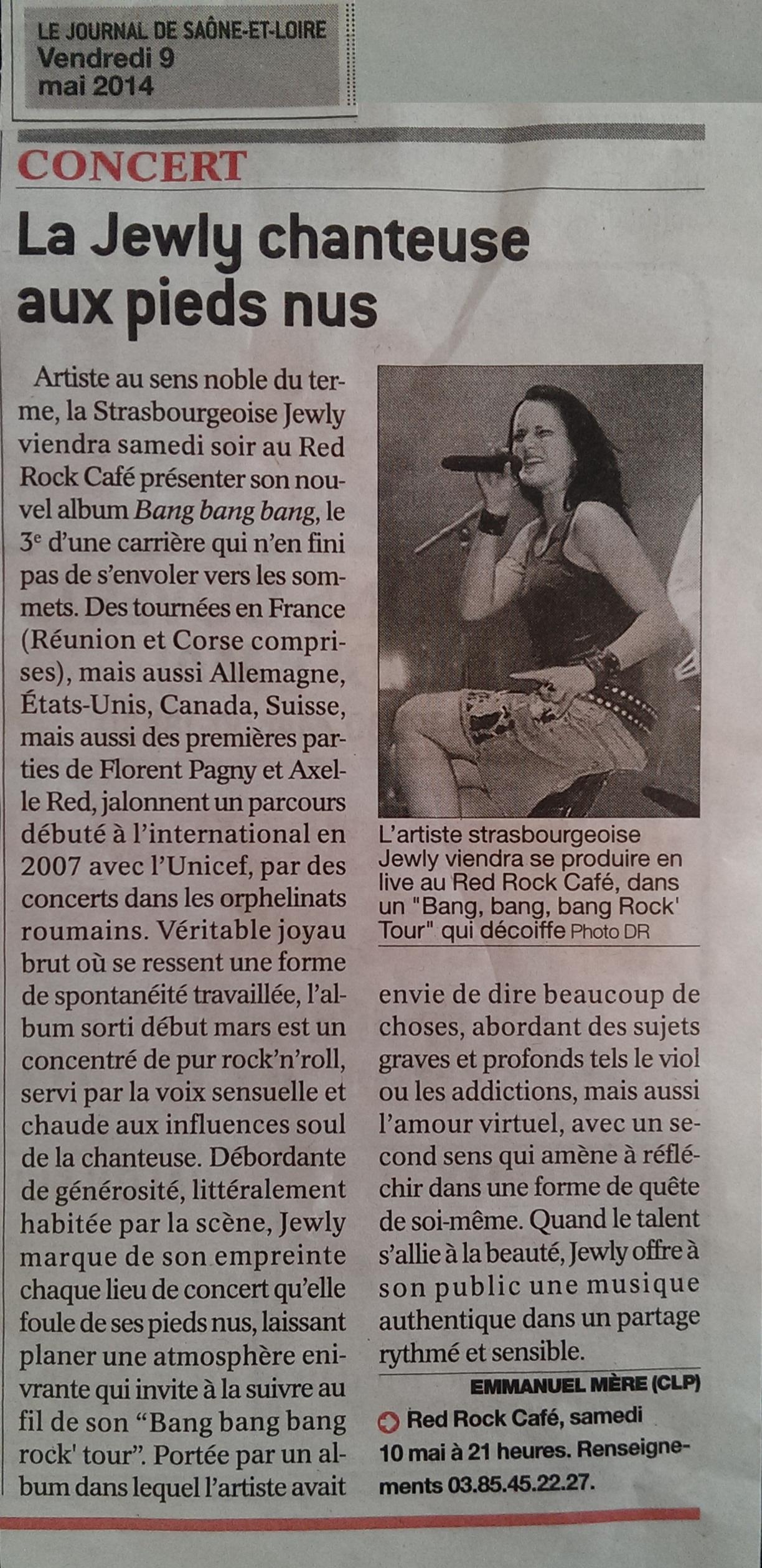 Le Journal de Saône-et-Loire – 09/05/2014
