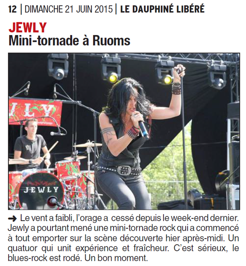 Le Dauphiné Libéré – 21/06/2015