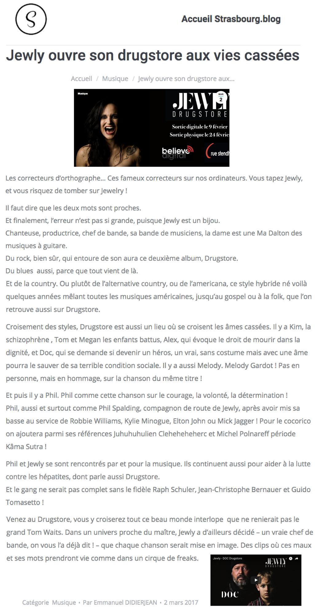Strasbourg Blog - 02/03/2017
