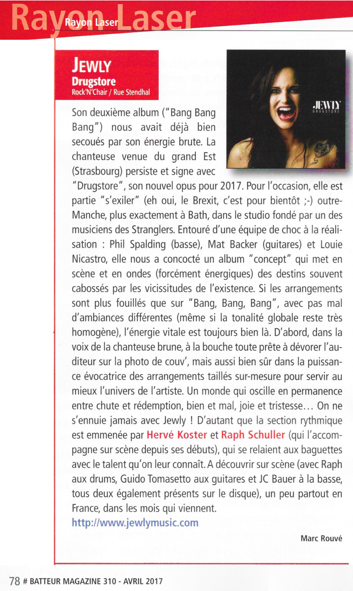 Batteur Magazine - 04/2017
