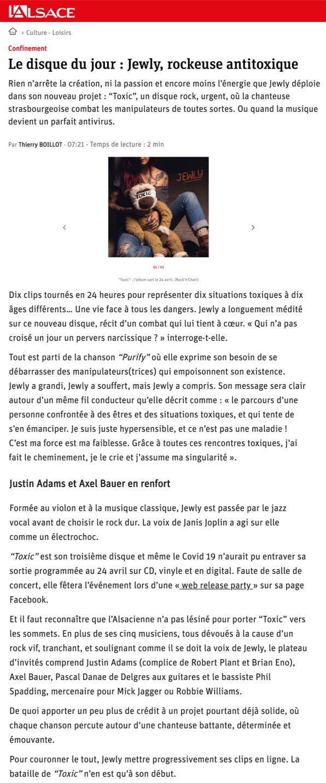 L'Alsace - 22/04/20
