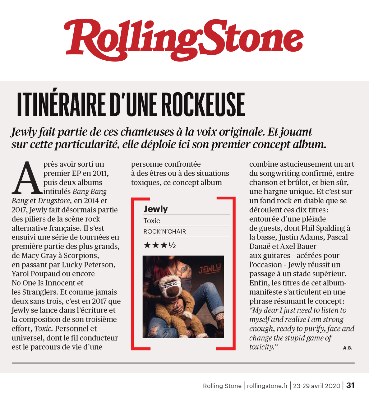 Rolling Stone - April 2020