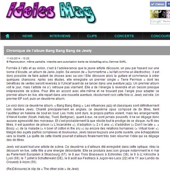 Idoles Mag – 11/03/2014