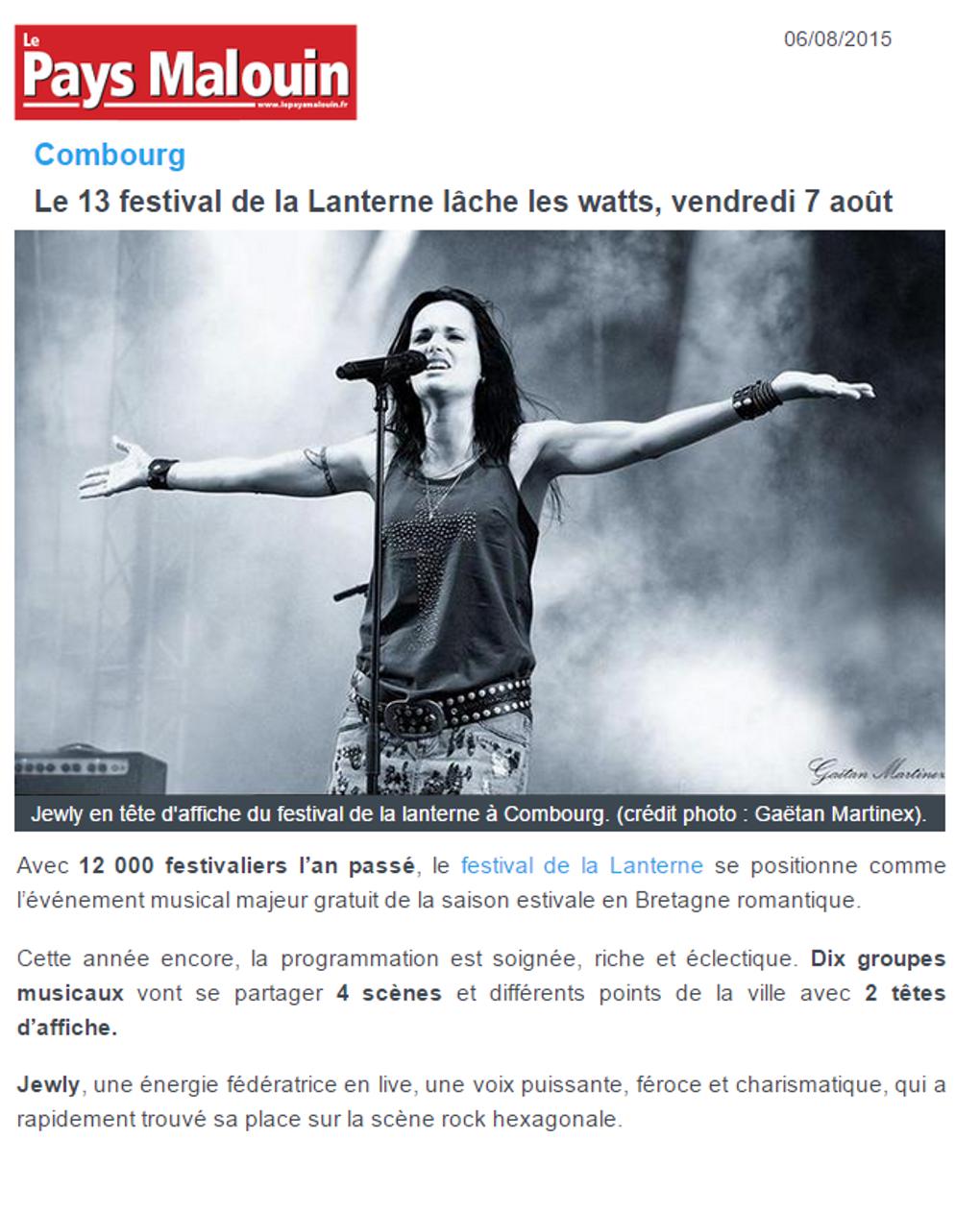 Le Pays Malouin – 06/08/2015