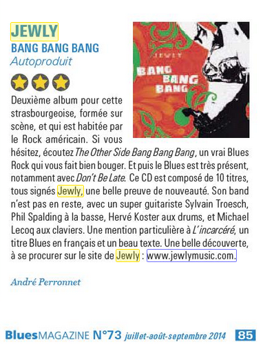 Blues Magazine – 3rd quarter 2014