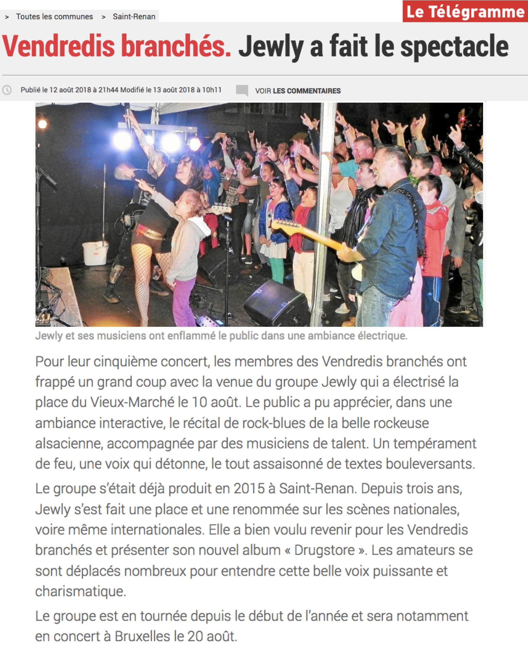 Le Télégramme - 13/08/18