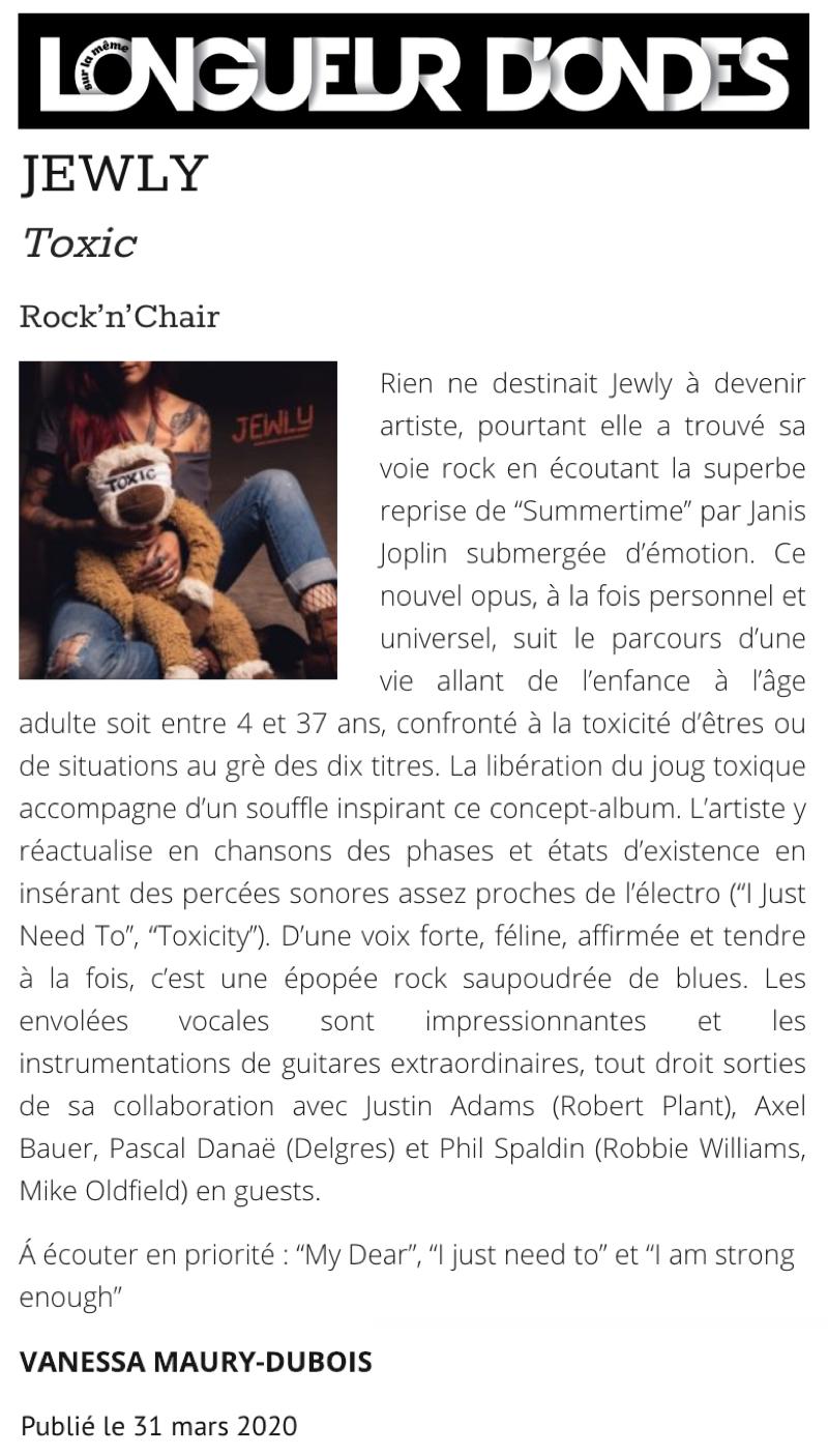 Longueur d'Ondes - 31/03/20
